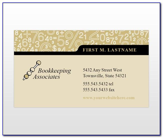 Accounting Firm Business Card Template