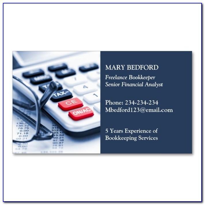 Accounting Visiting Card Format
