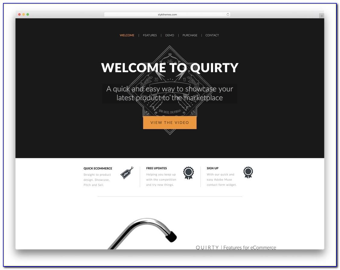 Adobe Muse Ecommerce Templates Free Download