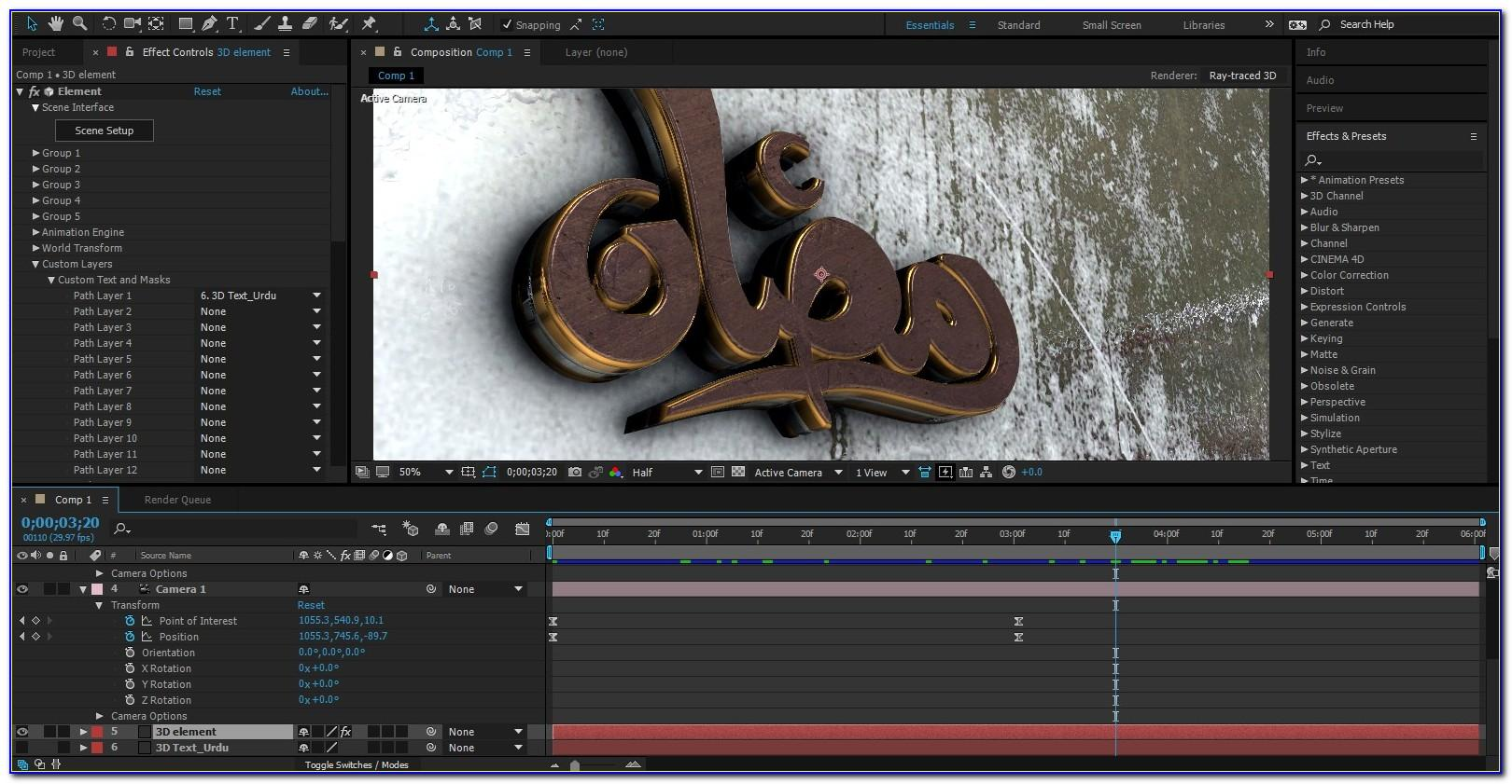 After Effects Template 3d Logo Animation V2 Free Download