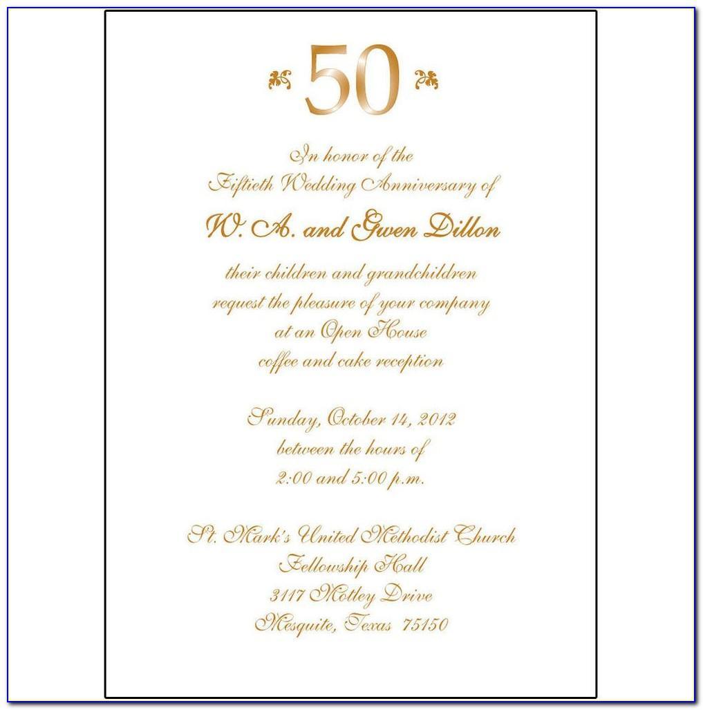 Anniversary Invitation Templates For Word