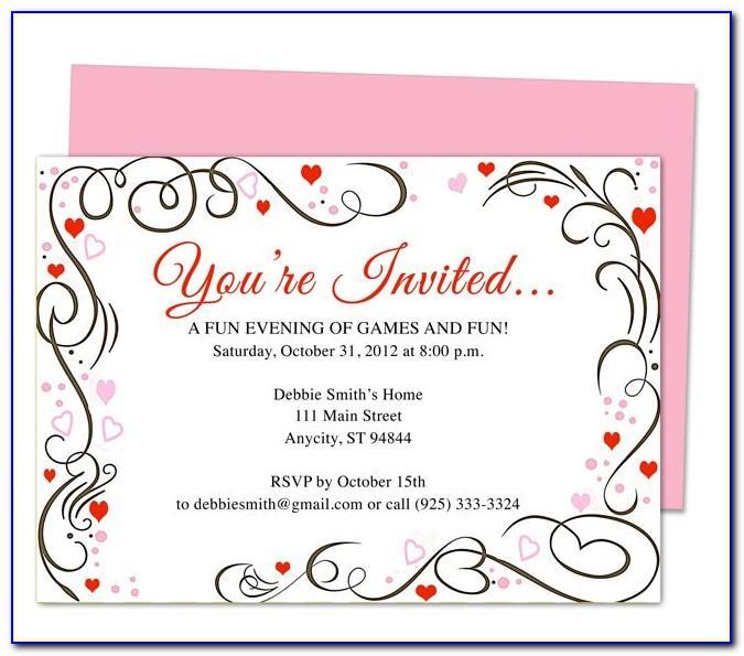 Anniversary Invitation Templates Free Printable