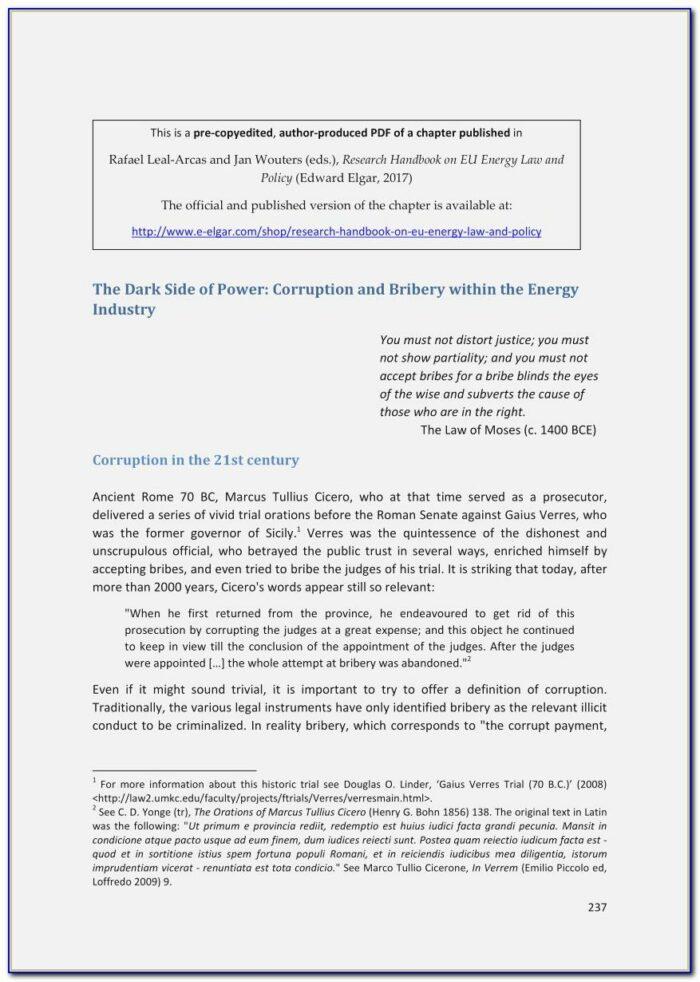 Anti Bribery And Corruption Policy Template Australia