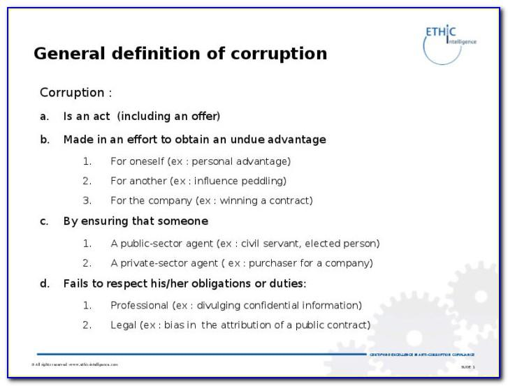 Anti Bribery And Corruption Policy Template India
