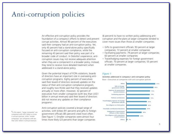 Anti Bribery And Corruption Policy Template South Africa