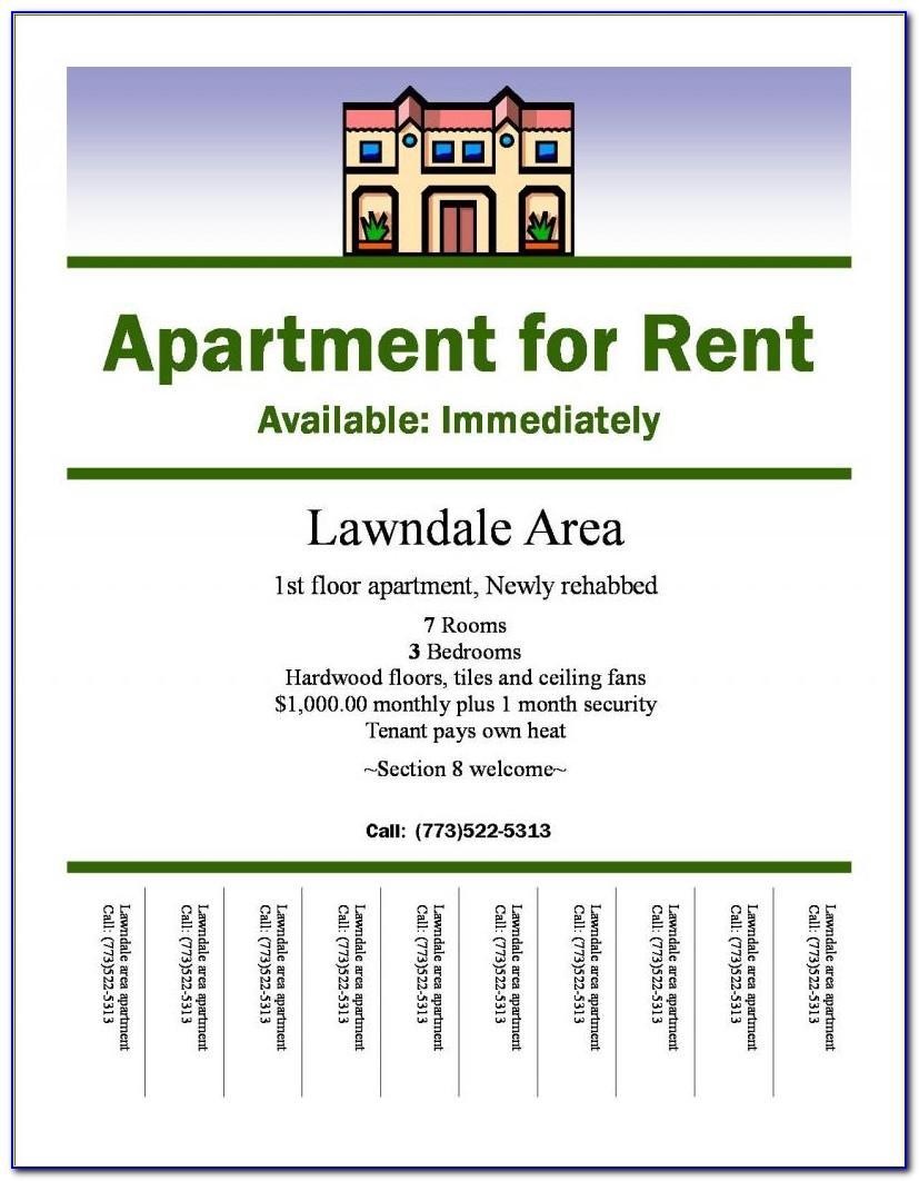 Apartment Rent Flyer Template