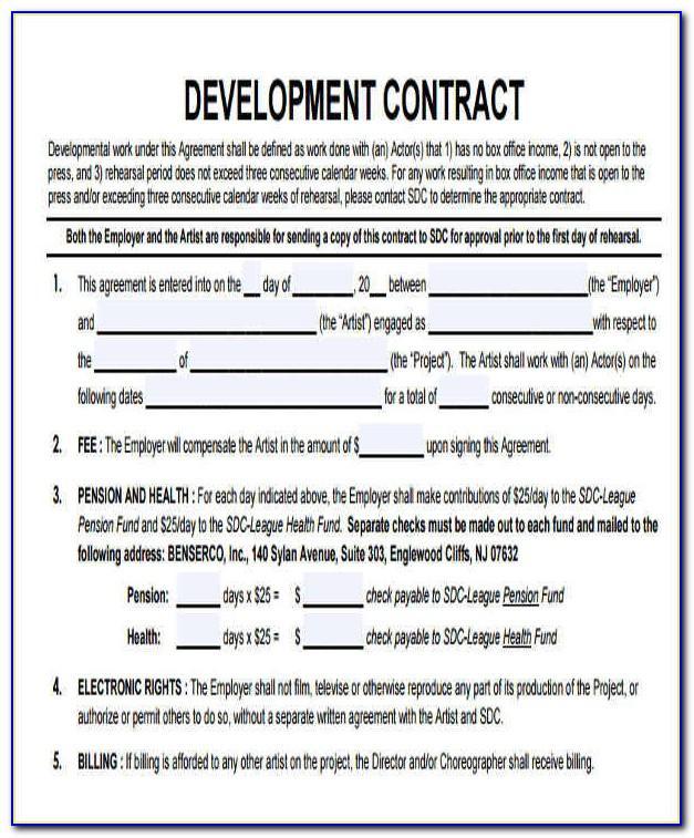 Artist Development Contract Template
