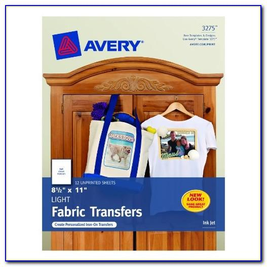 Avery Dark T Shirt Transfer Template