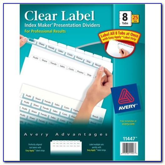 Avery Index Maker 8 Tab Template 11437