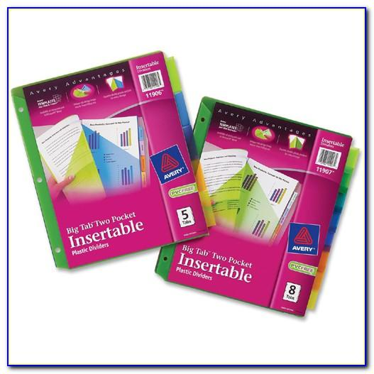 Avery Insertable Dividers 11200 Template