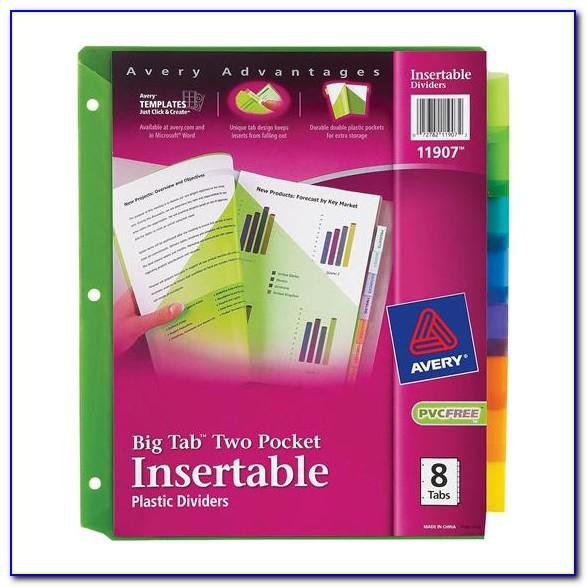 Avery Insertable Dividers 11201 Template