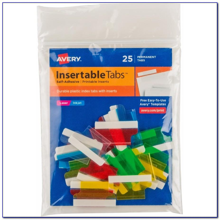 Avery Self Adhesive Index Tabs With Printable Inserts Template