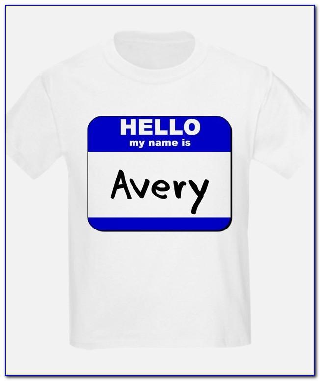 Avery T Shirt Design Templates