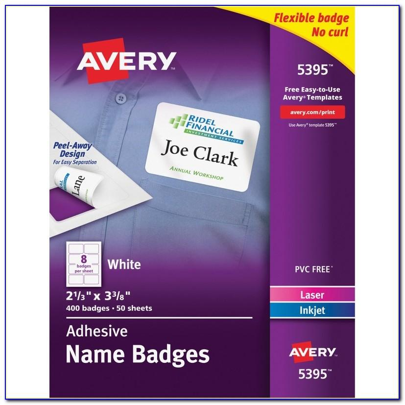 Avery Template For Name Tags