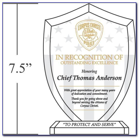 Award Trophy Template