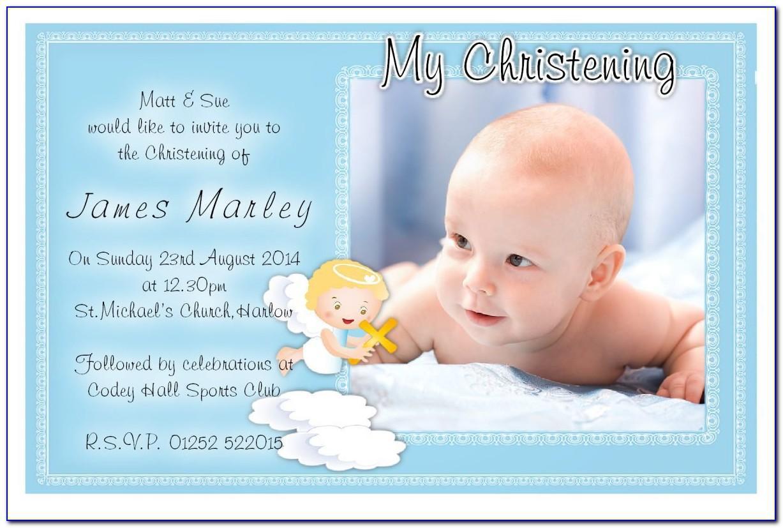 Baby Boy Baptism Invitation Wording