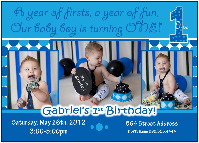 Baby Boy Birthday Invitation Template