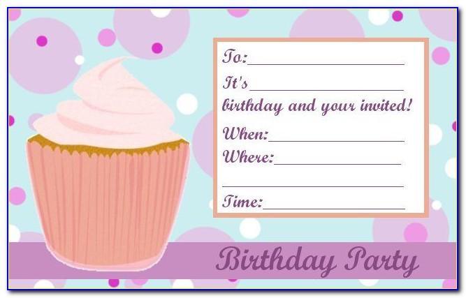 Baby Girl 1st Birthday Invitation Templates Free