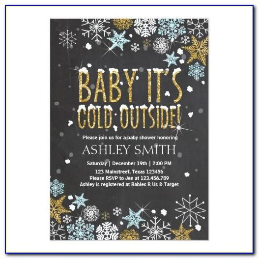 Baby It's Cold Outside Baby Shower Invitation Template