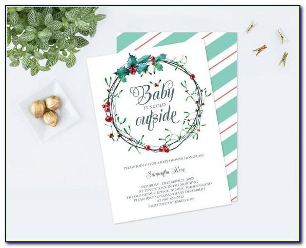 Baby It's Cold Outside Baby Shower Invitations Template Free
