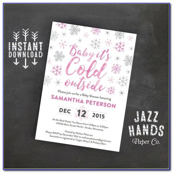 Baby It's Cold Outside Invitation Template Free