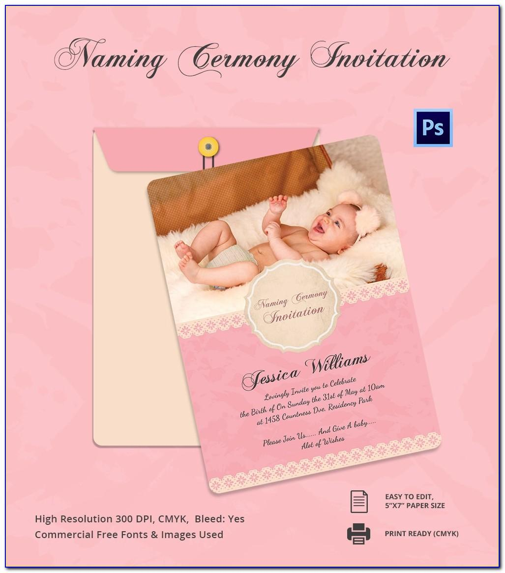 Baby Naming Ceremony Invitation Cards