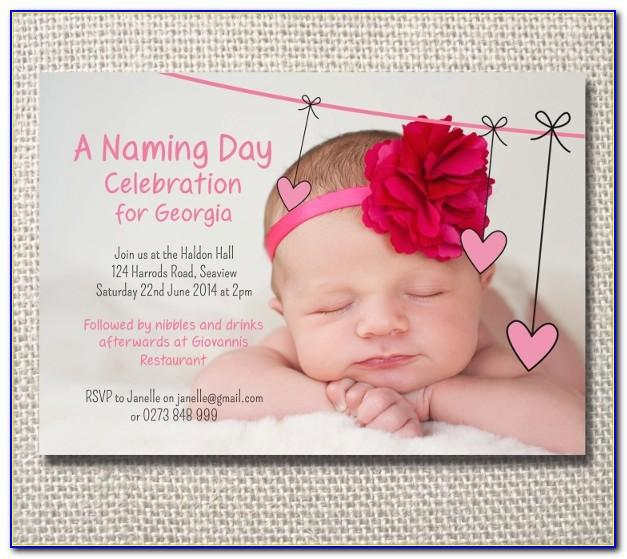 Baby Naming Ceremony Invitation Template Free