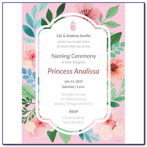 Baby Naming Ceremony Invitation Wording In Marathi