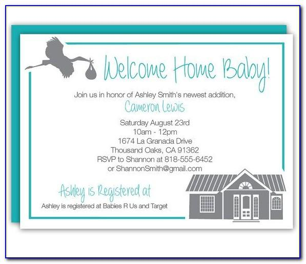 Baby Welcome Party Invitation Templates