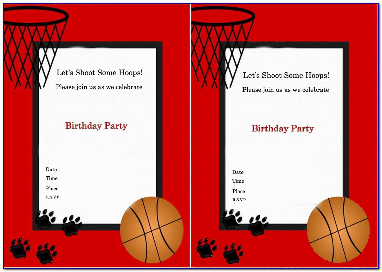 Basketball Themed Invitation Template