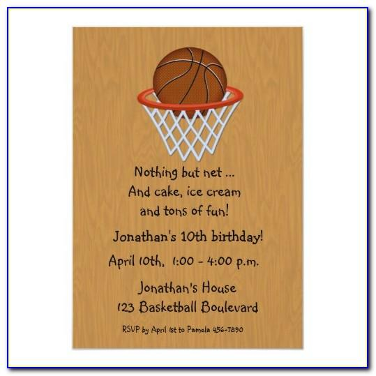 Basketball Themed Invitations Templates Free