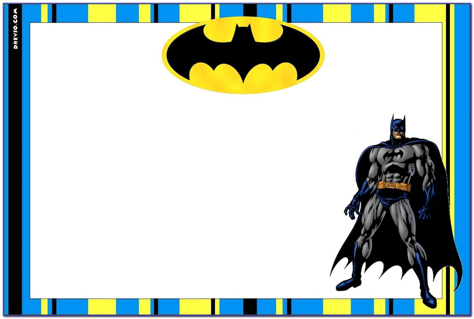 Batman Birthday Party Invitation Template Free