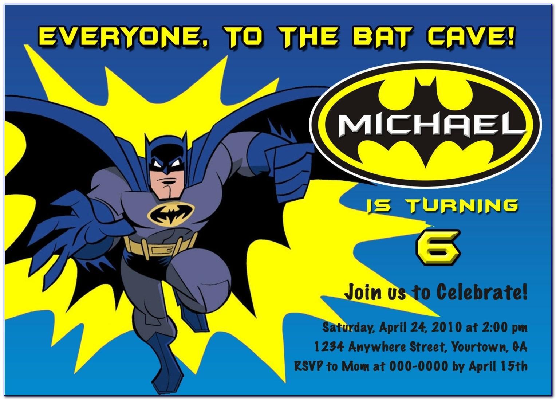 Batman Birthday Party Invitation Template