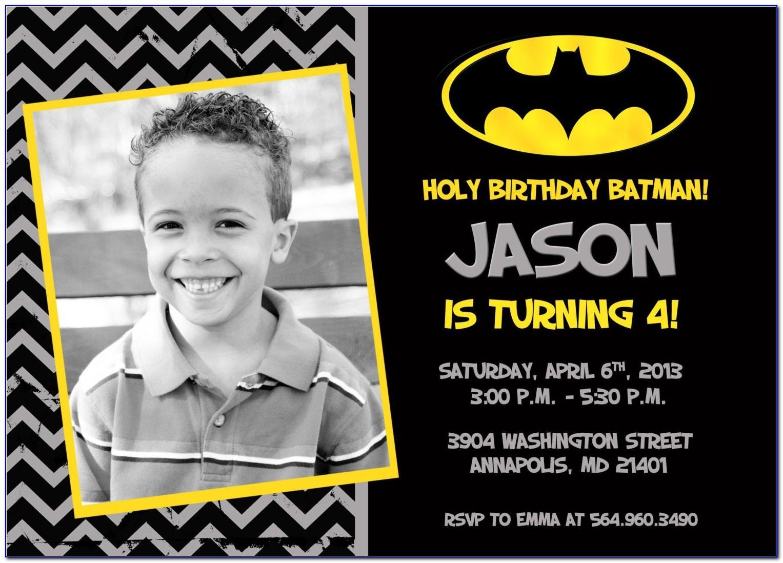 Batman Themed Birthday Invitation Template