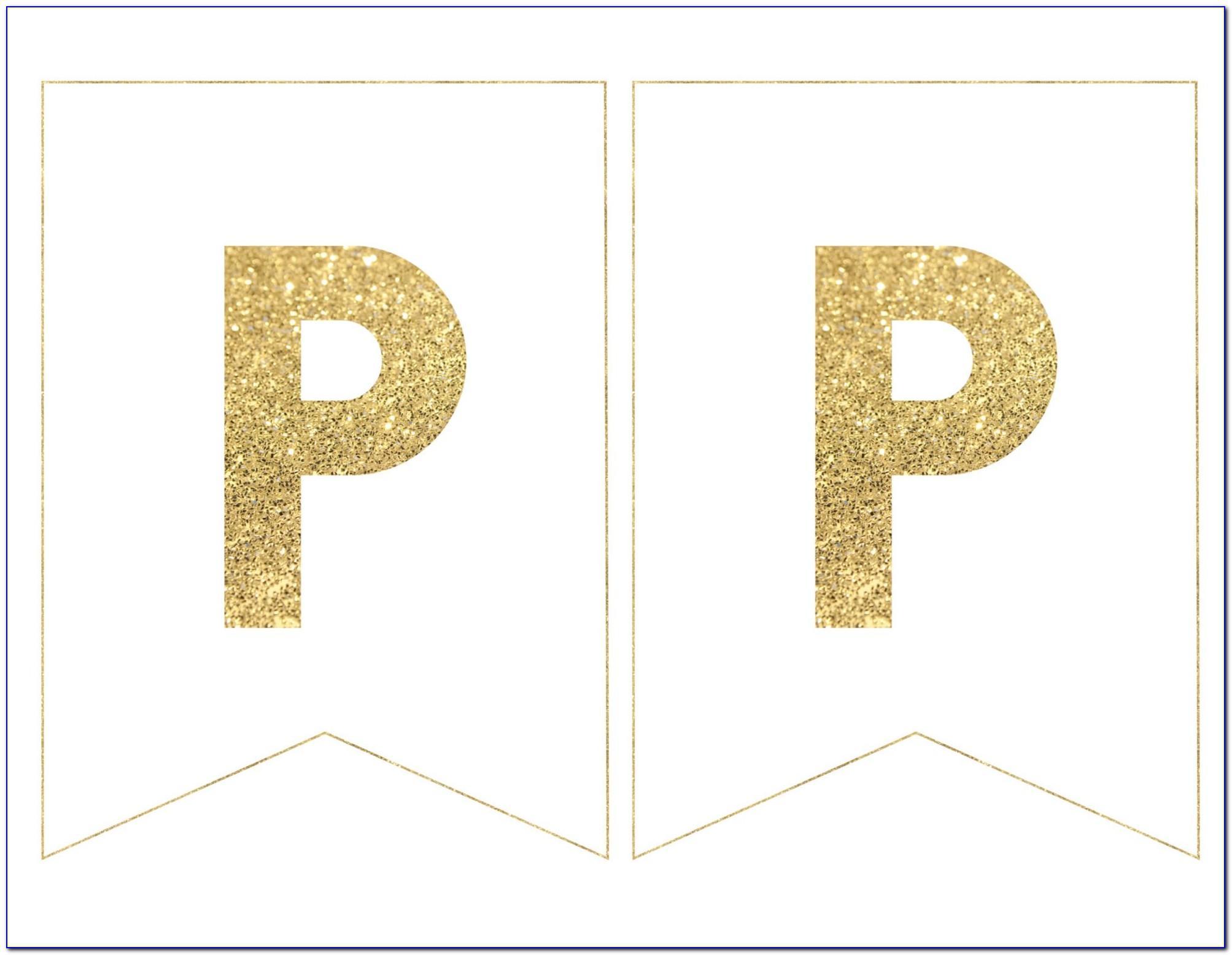 Birthday Banner Per Letter Template
