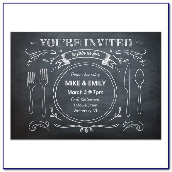 Birthday Dinner Party Invitation Templates