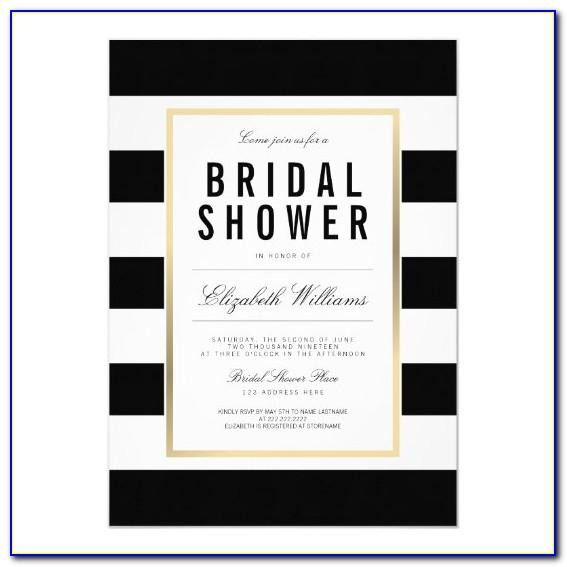Black White And Gold Invitation Templates Free