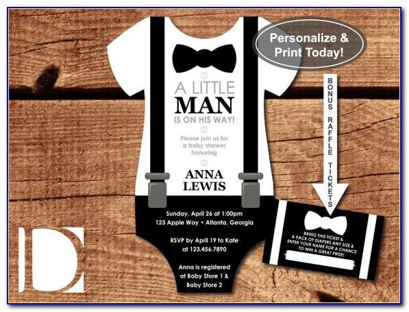 Blank Bow Tie Invitations Templates