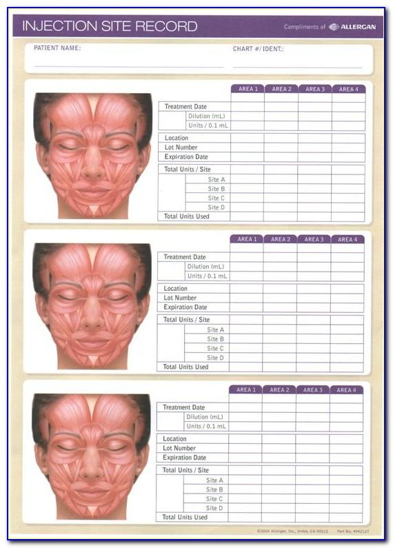 Botox Treatment Record Template