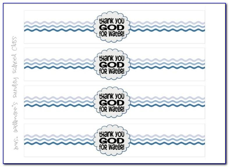 Bottled Water Labels Template