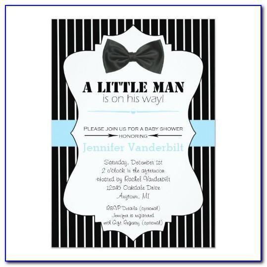 Bow Tie Invitation Template Free