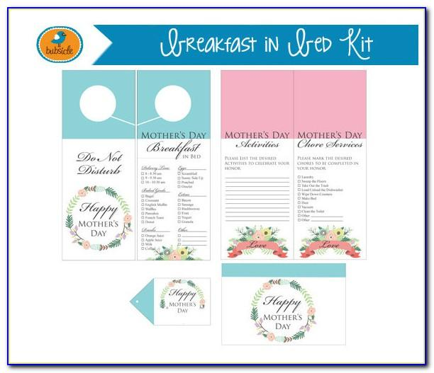 Breakfast Menu Template Microsoft Word