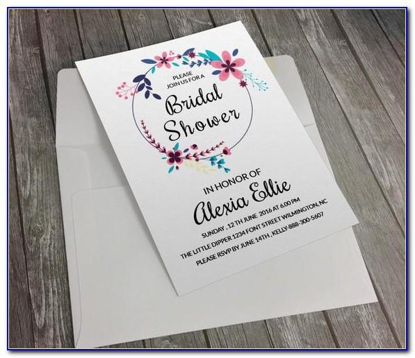 Bridal Shower Invitation Template Free Download