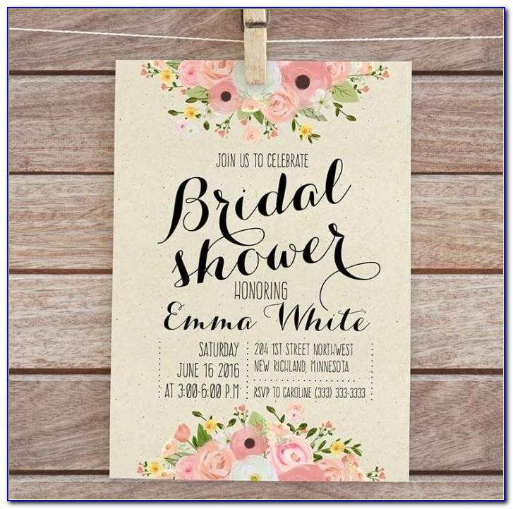 Bridal Shower Invite Template Download
