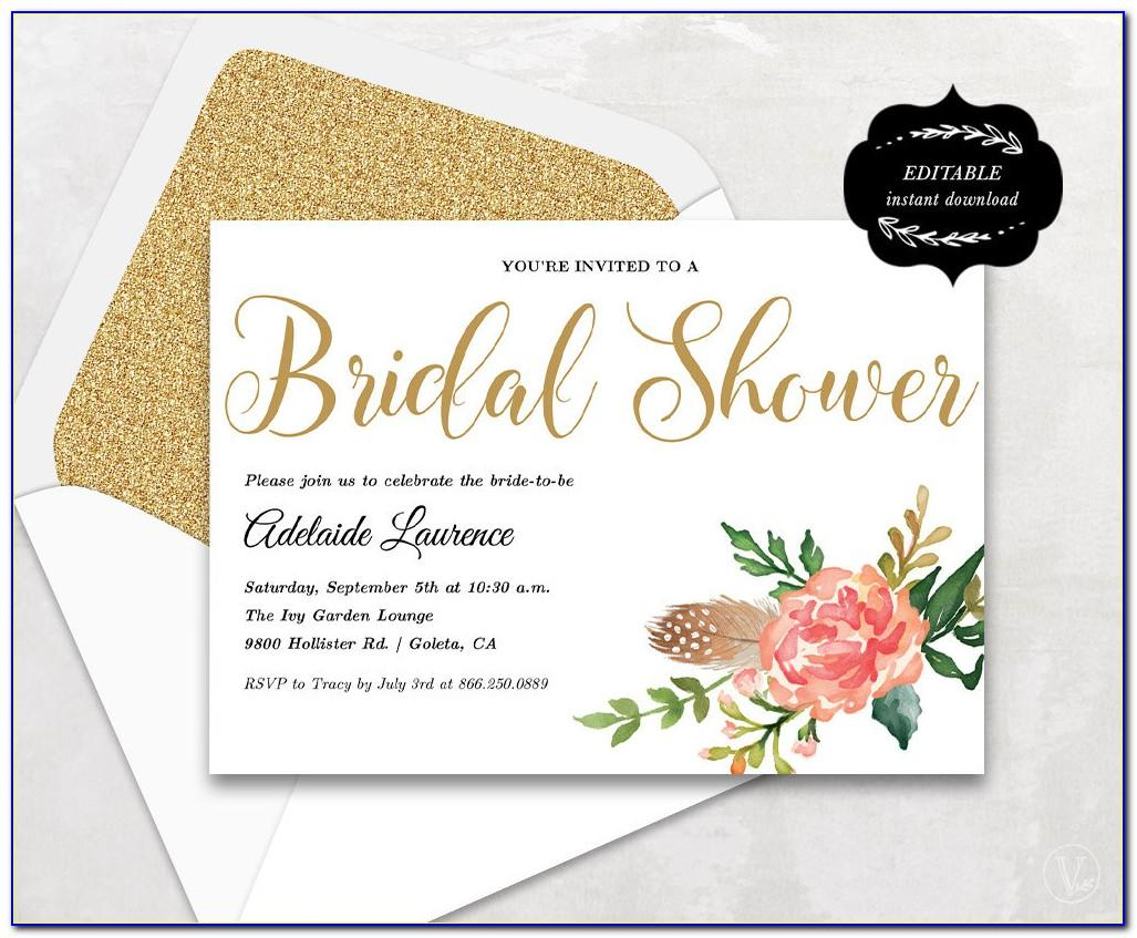 Bridal Shower Template Download