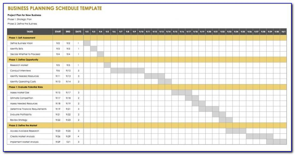 Business Plan Excel Free Template