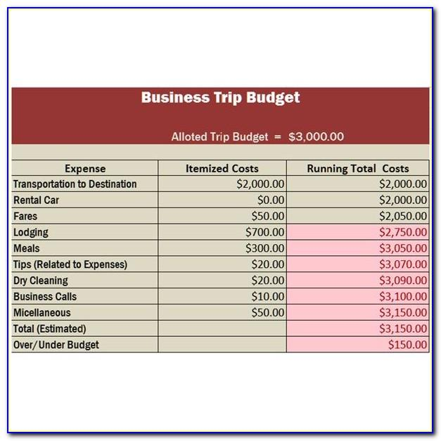 Business Trip Travel Plan Template