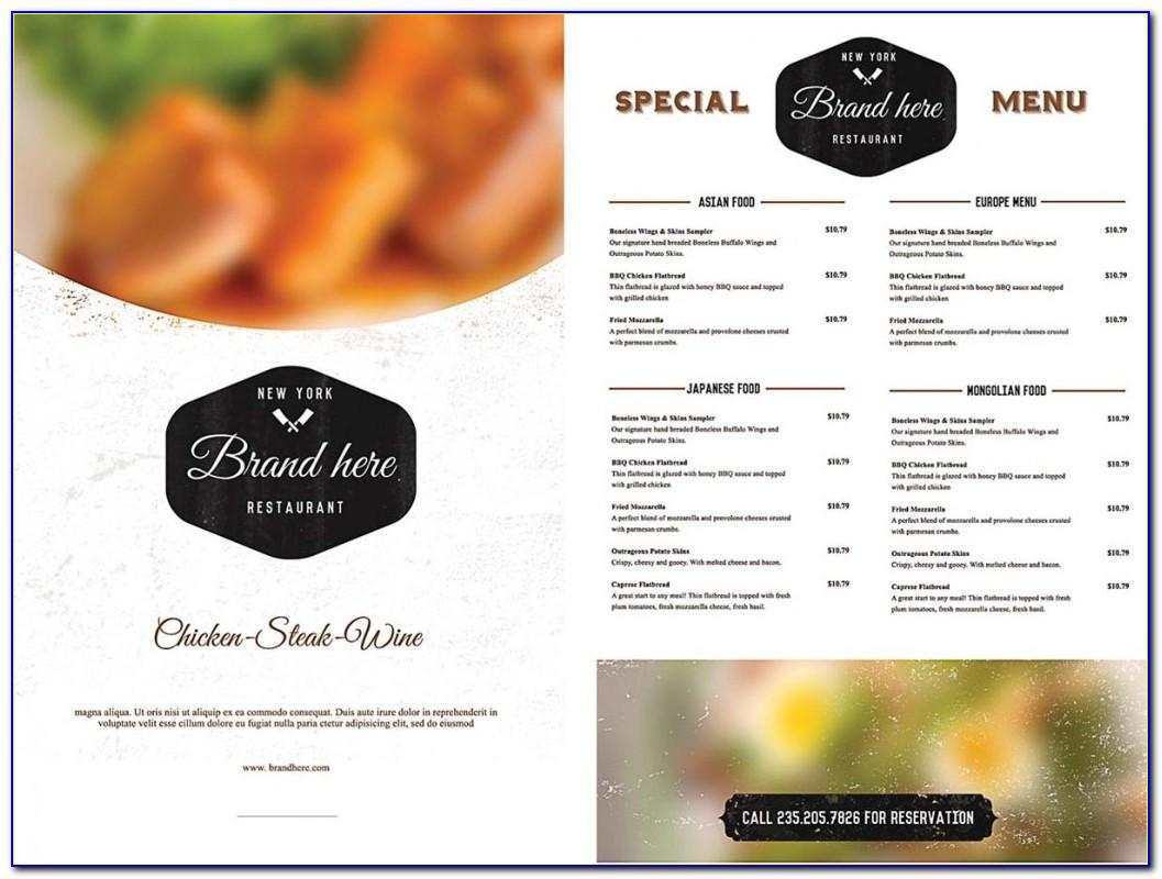 Cafe Menu Card Design Templates Free Download