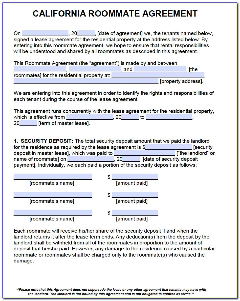 California Apartment Rental Agreement Template