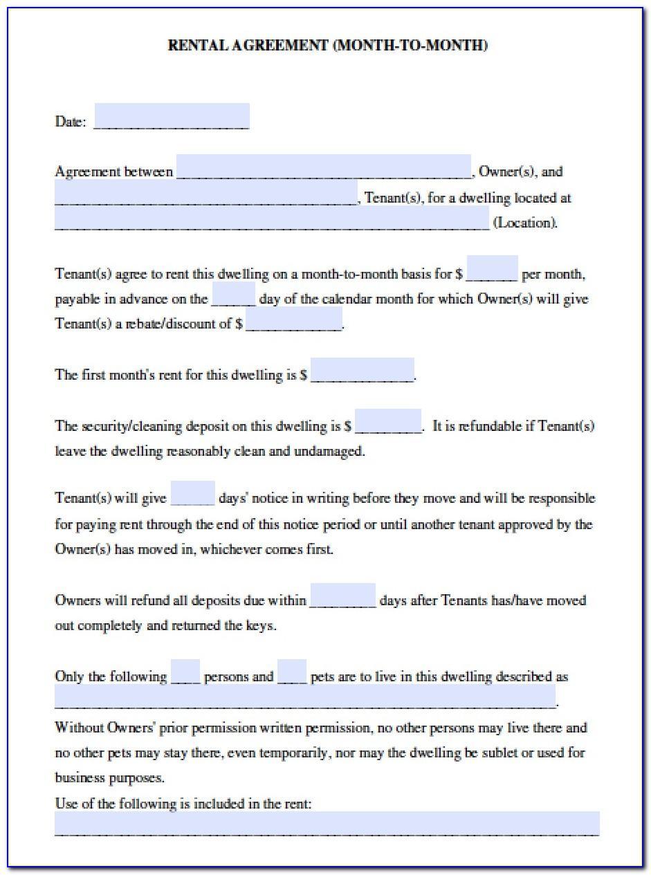 California Home Rental Agreement Template